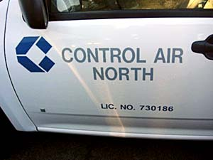 Control North Decal for Truck