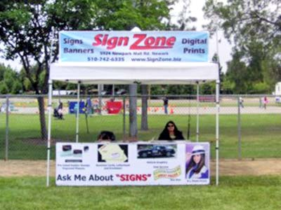 Booth banners & signs