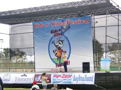 Kids & Kites Stage Banner